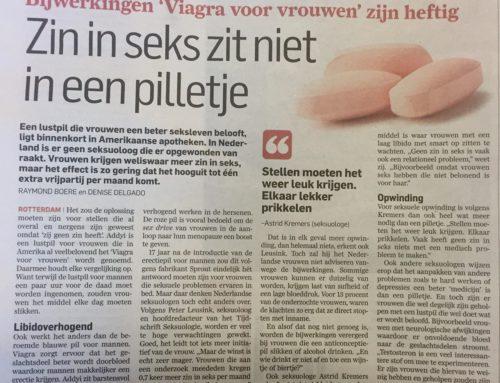 In het AD: Zin in seks zit niet in een pilletje