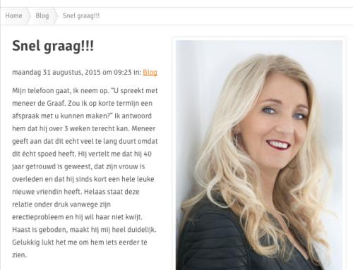 Mijn blog: man krijgt nieuwe vriendin en heeft erectieprobleem