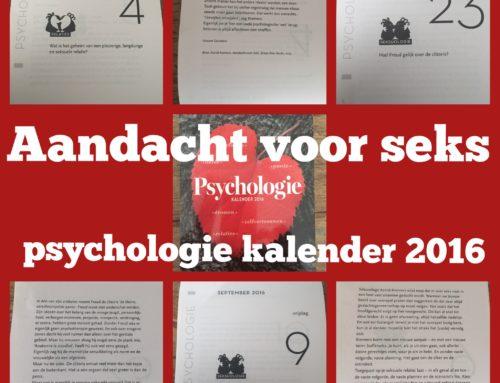 Mijn boek 'Aandacht voor seks' in de psychologie scheurkalender 2016.