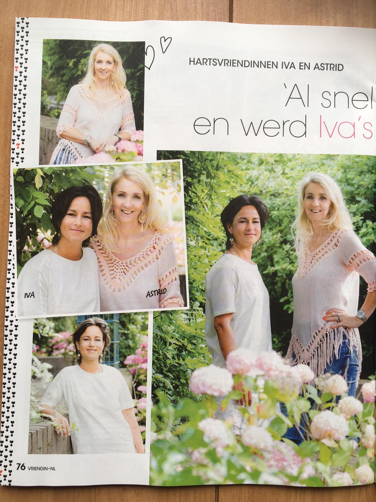 Artikel in tijdschrift Vriendin: Iva Bicanic en Astrid Kremers