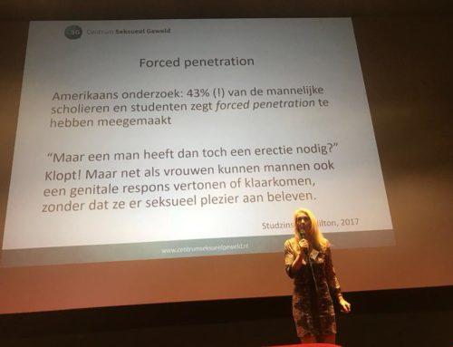 Seksuoloog Astrid Kremers spreekt op LECK congres over mannen en seksueel misbruik