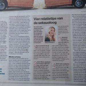 seksuoloog geeft tips in het AD