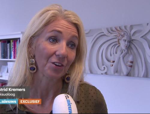 Seksuoloog Astrid Kremers wordt geïnterviewd voor RTL 4 Nieuws over voyeurisme